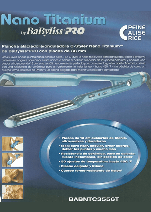 Babyliss Pro Nano Titanium C Styler Sedeca de Honduras